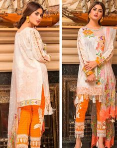 Qalamkar Luxury Festive Eid Lawn is second lawn festive season collection from the brand this one is more formal and luxury designs to make woman stylish and attractive on this Eid. Stylish Dresses For Girls, Stylish Girls Photos, Casual Dresses, Fashion Dresses, Pakistani Fashion Casual, Pakistani Outfits, Party Wear Dresses, Bridal Dresses, Beautiful Pakistani Dresses