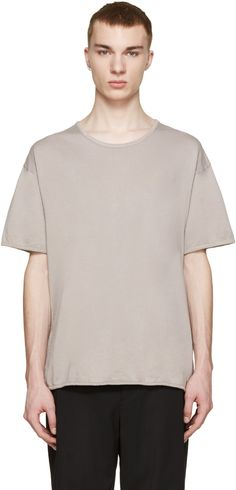 Robert Geller - Grey Crew T-Shirt