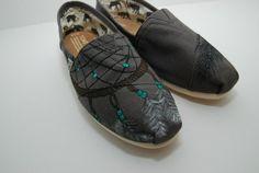 Dreamcatcher custom painted TOMS shoes