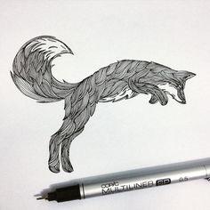 Artist: https://society6.com/thiagobianchini ... This would make a beautiful fox tattoo!!!