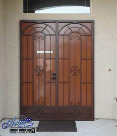 Dixie - Wrought iron security screen double doors - Model: FD0134