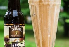 Salty Caramel Beer Floats. Salted Caramel Gelato and Mt. Carmel Brewing Company's Nut Brown Ale