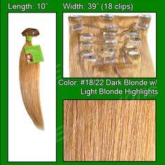 #18/22 Dark Blonde w/ Light Highlights - 10 inch