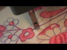 ricamo a mano macchina con macchina da cucire elettrica