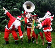 Our Santa Jazz Band are available to hire for Christmas Themed events, public Christmas Events and Shopping Centres over Christmas in London & the UK. Christmas Events, London Christmas, Santa Christmas, Christmas Morning, Christmas And New Year, Christmas Themes, Commercial Christmas Decorations, Xmas Party, Christmas Parties