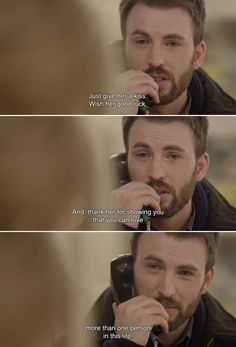 Just give her a kiss. Wish her good luck. And, thank her for showing you that you can love more than one person in this life. ― Before We Go.