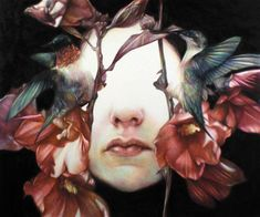by Marco Mazzoni. I love how his drawing make you strangely uncomfortable. It's the eyes-- just as Magritte's The Son of Man makes people uncomfortable-- people do not like being unable to see a person's eyes or whole face. I've always found that to be interesting.