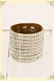 This is such a fun and practical piece to dress up any outfit.  I have one in camel, and I wear it all the time! Dazzling Diva Cuff, at Francesca's.