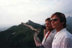 John Denver on the Great Wall of China - He was the first singer from the West that was allowed in after the Cultural Revolution.