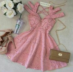 dress pink discovered by Şengül。^‿^。 on We Heart It Hoco Dresses, Pretty Dresses, Homecoming Dresses, Sexy Dresses, Beautiful Dresses, Dress Outfits, Girl Outfits, Fashion Dresses, Summer Dresses