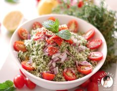 The Global Girl Raw Recipes: Raw vegan, no-grain & gluten-free Tabbouleh from A Week's Worth of Middle Eastern.