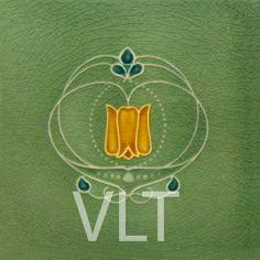 Art Nouveau Reproduction Tile #30, from Villa Lagoon Tile