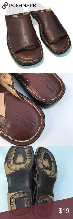 Born Flat Leather Sandals Super Born flats, have been worn, still in nice shape, size 7. T5 Born Shoes Flats & Loafers