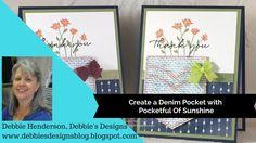 Create a Denim Pocket using Pocketful Of Sunshine and the Burlap Backgro...