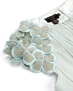 ELEEIA - Embellished sleeve maxi dress - £399