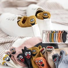 Kawaii Embroidered Expression Women Socks Cotton Harajuku Happy Funny Socks Women Christmas Gifts An Happy Socks, Color Caramelo, Polyester Material, Polyester Spandex, Spring Summer, Funny Socks, Tumblr Outfits, Christmas Gifts For Women, Online Shopping