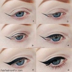 How to apply eyeliner? Perfect dramatic eyes.   Fab Fashion Fix