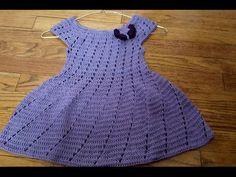 Repeat youtube Vestidito en crochet(ganchillo) para niña en punto relieve on Repeatube.com