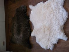 Sheep skin floor rugs