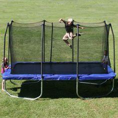 Skywalker Trampolines 15 ft. Rectangular Trampoline with Enclosure - Blue - SKW088-1