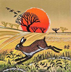Racing Hare Rob Barnes Linocut at Norton Way Gallery Hertfordshire Linocut Prints, Art Prints, Block Prints, Hare Illustration, Rabbit Art, Art Graphique, Pictures To Paint, Printmaking, Art Gallery