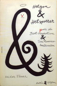 Olle Eksell, book cover, 1960, Helgon & Hetsporrar (poetry from the Beat Generation and SF Renaissance)