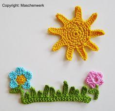 Devil application, crochet flowers Source by arzukalkan Crochet Motifs, Crochet Blocks, Crochet Flower Patterns, Crochet Art, Love Crochet, Crochet Gifts, Crochet Designs, Crochet Flowers, Knitting Patterns