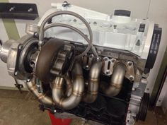 VW 1.8T engine with GT28 turbo kit built last month by us.