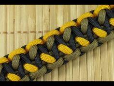 How to Make an Off-Set Morse Code Bar Paracord Bracelet - YouTube