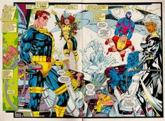 Jim Lee Gallery | ... Gallery: Comic Book Collection » Jim Lee » jim-lee-xmen-page06-07