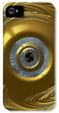 Fractal Gold and Silver Phone Cases and Cards iPhone 5 Case / iPhone 5 Cover for Sale by Bill Owen ~ #fractalart #iphonecases #phonecases #iphoneography #gold #silver :)