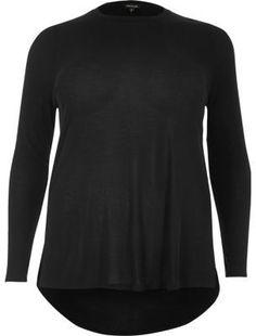 River Island Womens RI Plus long sleeve scoop neck tshirt