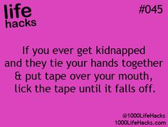1000 Life Hacks (every female should know this!!)