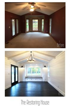 home renovation A whole house renovation. A post loaded with before and af… home renovation A whole house renovation. A post loaded with. Mobile Home Renovations, Remodeling Mobile Homes, Home Remodeling, House Renovations, Old Home Renovation, Remodeling Contractors, Mobile Home Makeovers, Small House Renovation, Mobile Home Redo