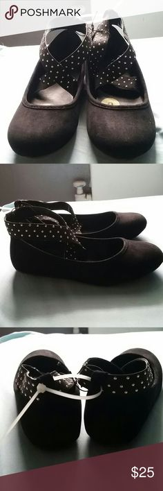 Paris blues black flats with gold stones Brand new never worn still has all stickers size 3 suade Paris Blues Shoes Flats & Loafers