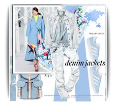 """""""Denim Trend: Jean Jackets"""" by amerlinakasumovic ❤ liked on Polyvore featuring Sophie Bille Brahe, Delpozo and adidas Originals"""