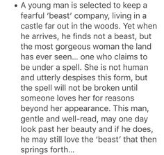 This is the adaptation of Beauty and the beast that I have longed for. Yes it's the basic plot of Shrek but I want it taken seriously
