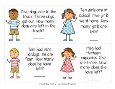 Word Problem Task Cards | Set of, Words and Cards
