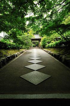 the approach to Nanzen-ji temple, Kyoto, Japan