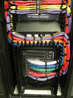 Great, colorful cable management