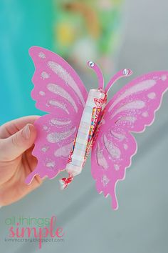 Butterfly Party Favors - use smarties for the butterfly body!