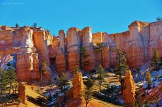 Frosty Hoodoos (outside of Bryce Canyon ). Photo by Luckystar