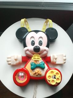 Vintage Mattel Mickey Mouse crib toy, 1984 Mickey Mouse Toy Activity Center, Disney Nursery activity toy, Mickey Mouse toy by TreasuresMemories on Etsy
