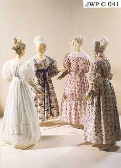 1830 extant dresses, fabric patterns