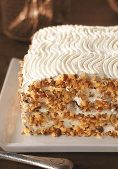 Bakery-Style Carrot Cake Recipe ~ With just a 13x9-inch pan  you can create a spectacular layer cake!.