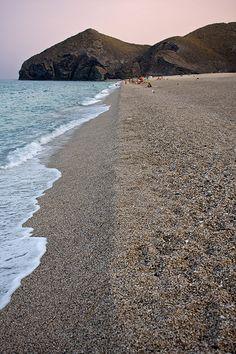 - Sunset in Playa de los Muertos,Carboneras, Cabo de Gata -