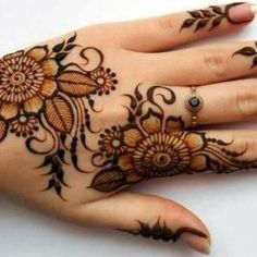 #mehendi #henna #design #hand #simple