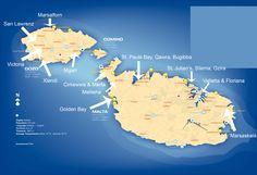 Garmon-Malta-map-locations     entri ..... controlli la disponibilità  e  prenoti al  prezzo più basso  del  mercato .........!!!!