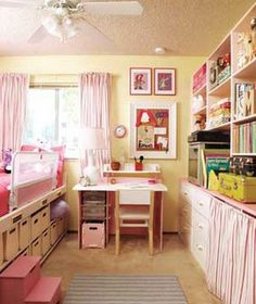 oooh, organized kid room!