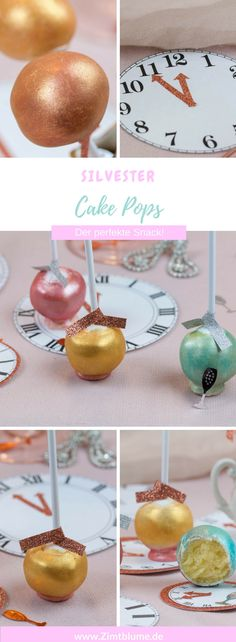Silvester Gaudi: Rezept für Champagner Cake Pops via @DieZimtblume Crazy Cakes, Candy Melts, Cakepops, Cake Pops Stiele, Cupcake Frosting Tips, Gaudi, Cupcakes, Partys, Sour Cream